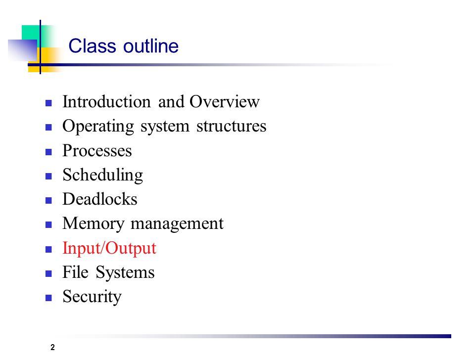 Operating Systems Mehdi Naghavi naghavi@aut.ac.ir naghavi_mehdi@yahoo.com Spring 1386 Input/Output Systems
