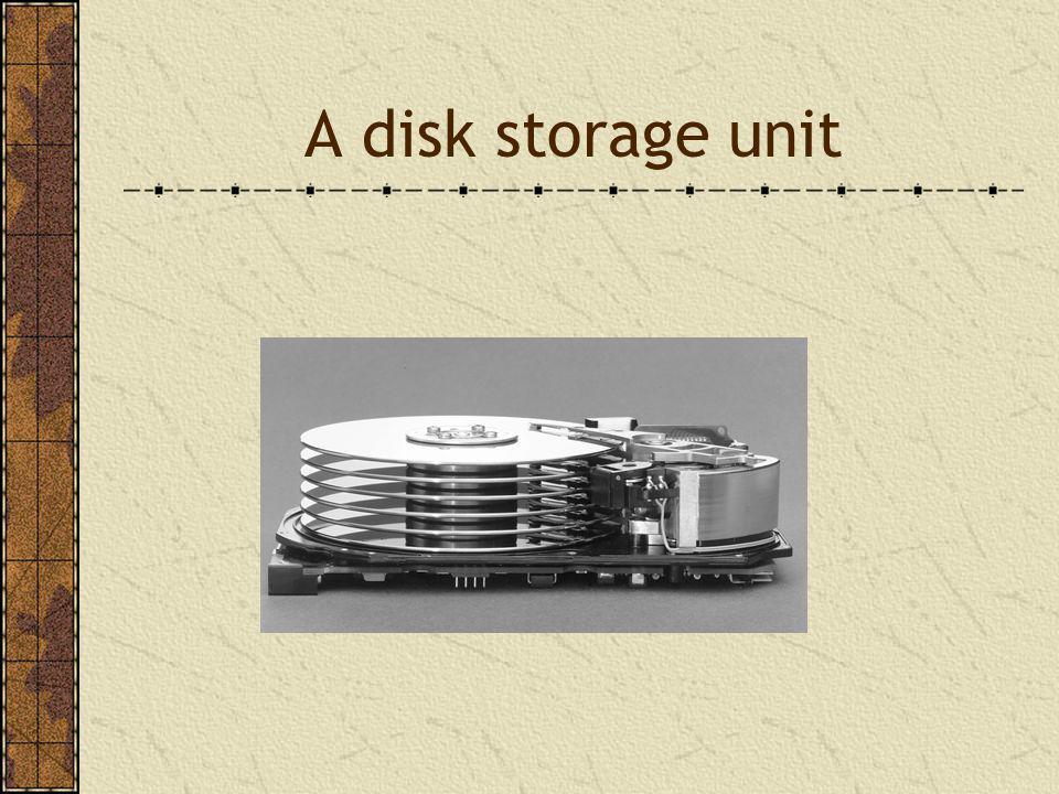 A disk storage unit