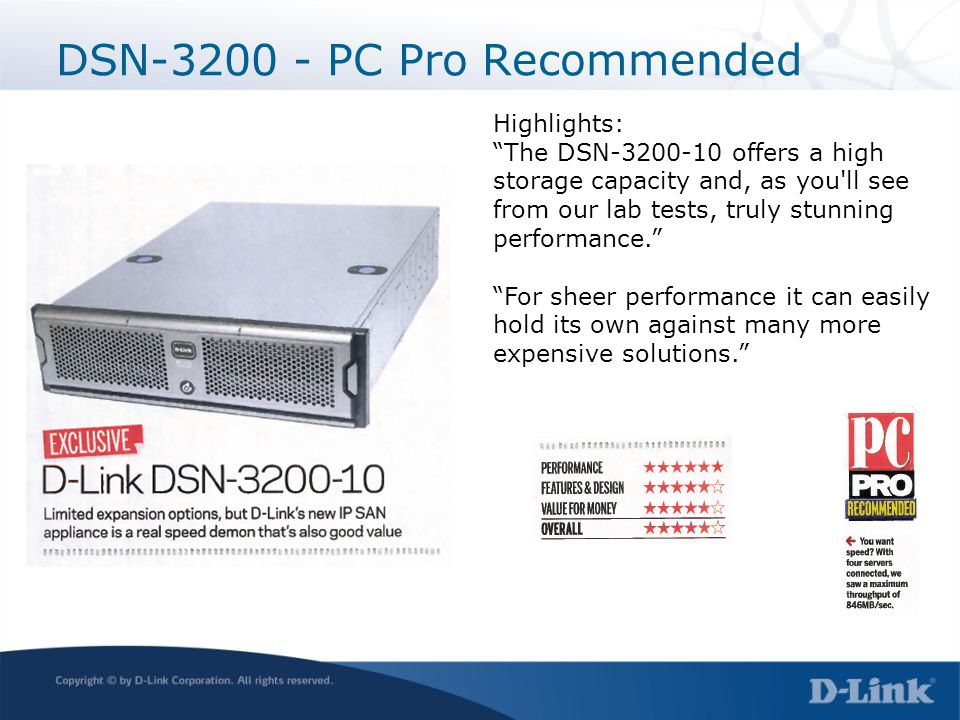 DSN-3200 - PC Pro Recommended Highlights: The DSN-3200-10 offers a high storage capacity and, as you'll see from our lab tests, truly stunning perform