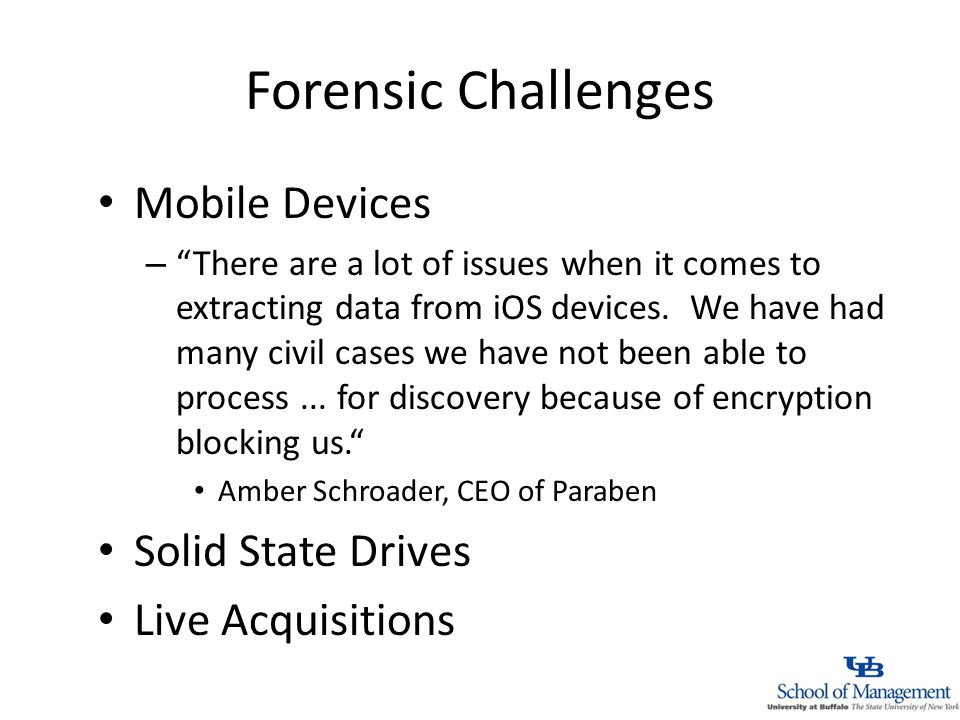 Forensic Challenges Mobile Devices – There are a lot of issues when it comes to extracting data from iOS devices.
