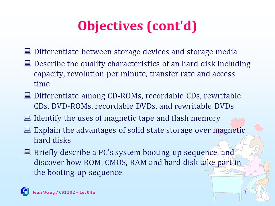 Solid State Drive (SSD) Jean Wang / CS1102 - Lec04 44