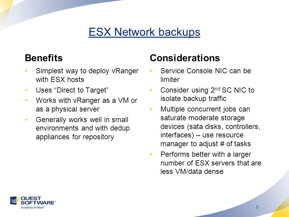 4 ESX Network Backups