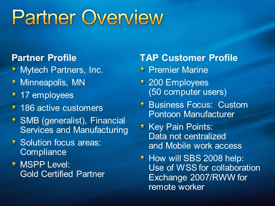 Partner Profile Mytech Partners, Inc.