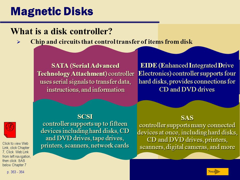 SAS controller supports many connected devices at once, including hard disks, CD and DVD drives, printers, scanners, digital cameras, and more EIDEEnh