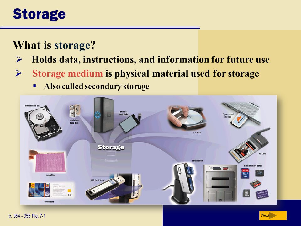 Putting It All Together What are recommended storage devices for mobile users.