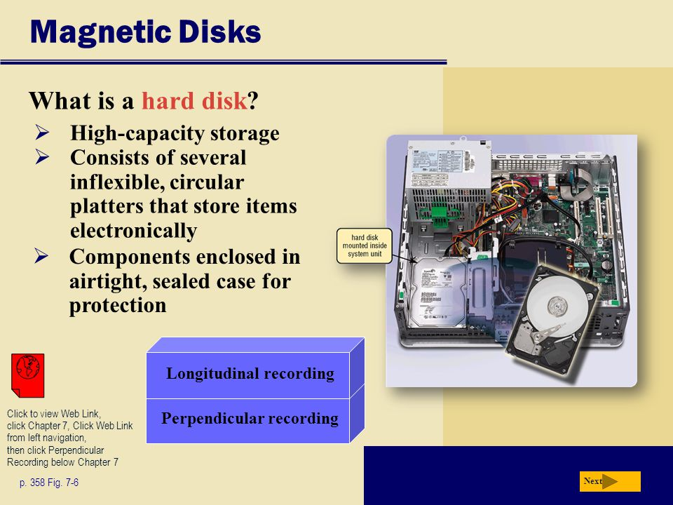 Magnetic Disks What is a floppy disk.p. 365 Fig.