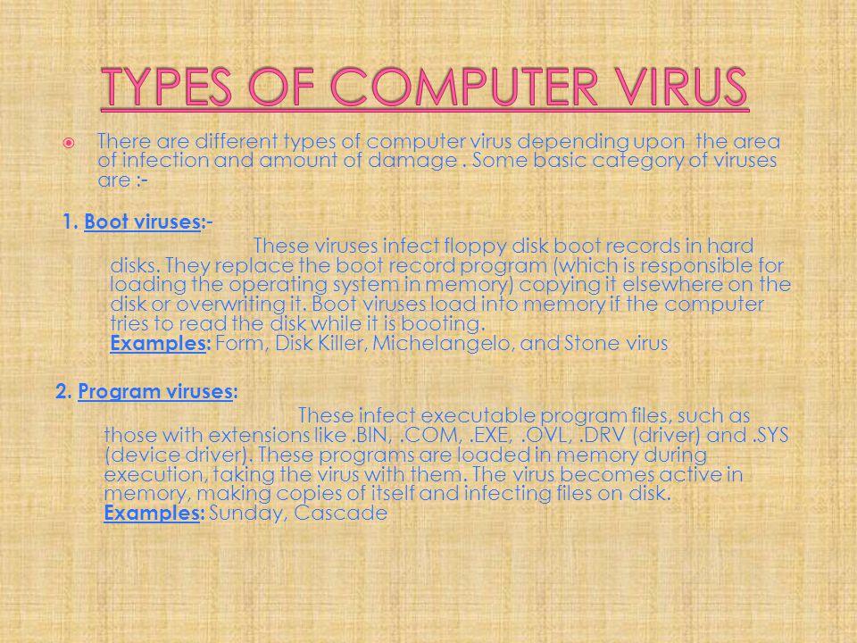 3.Multipartite viruses: A hybrid of Boot and Program viruses.
