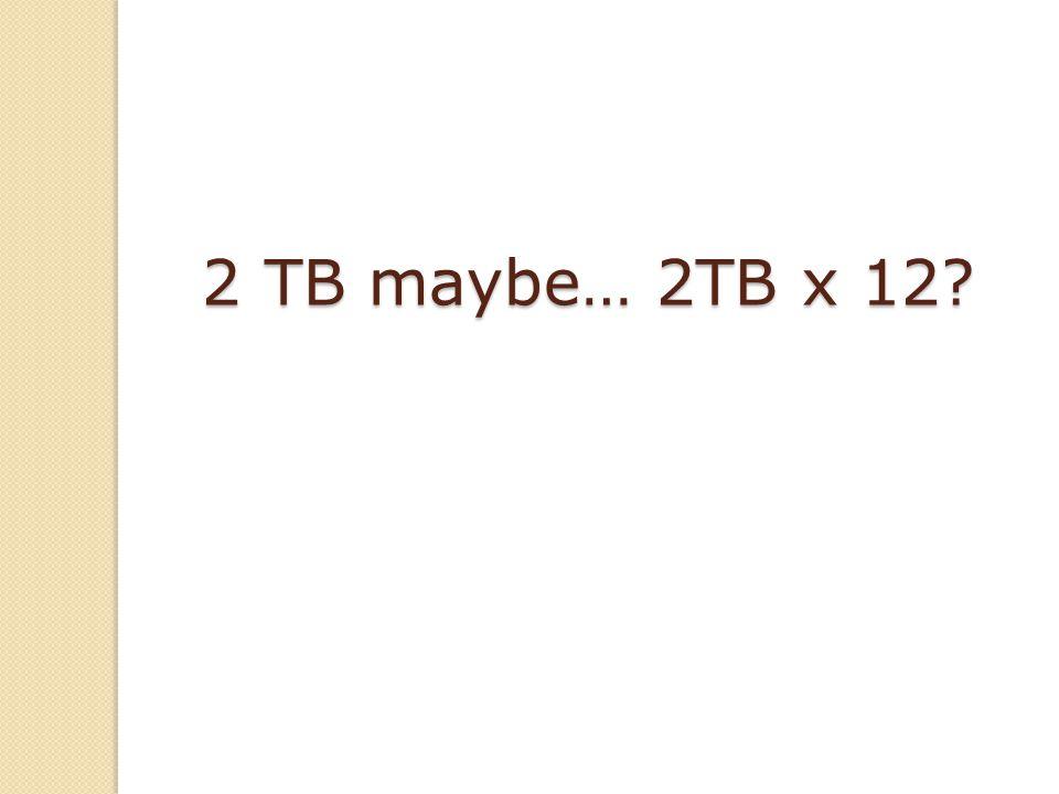 2 TB maybe… 2TB x 12