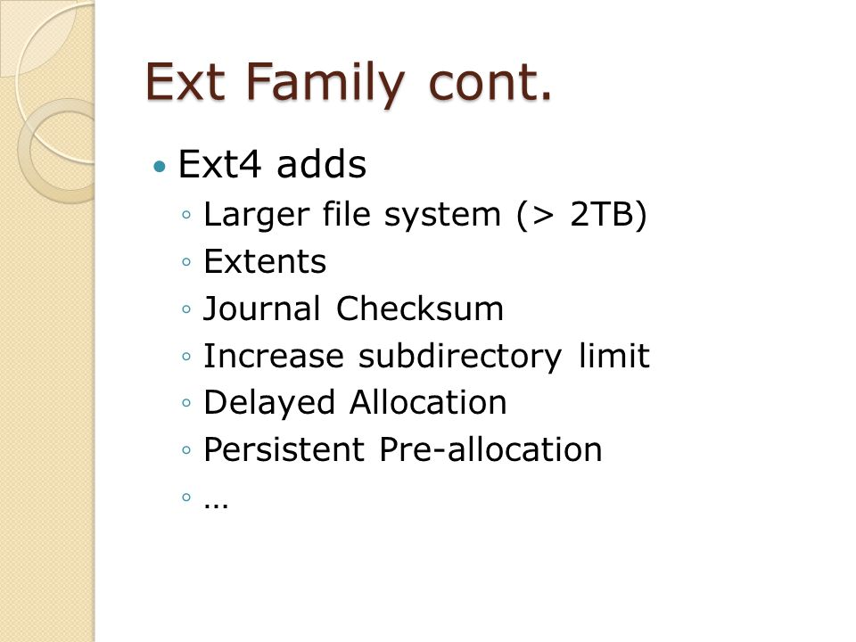 Ext Family cont.