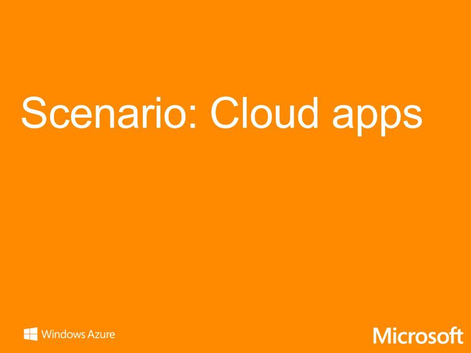 Scenario: Cloud apps