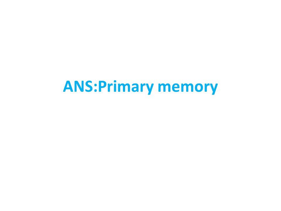 ANS:Primary memory
