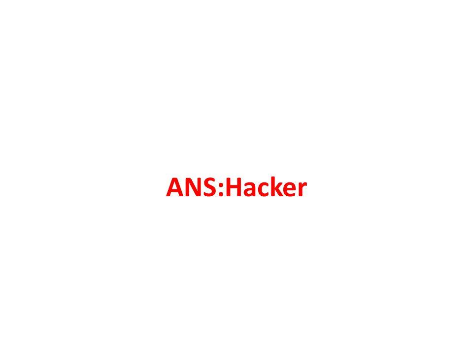 ANS:Hacker