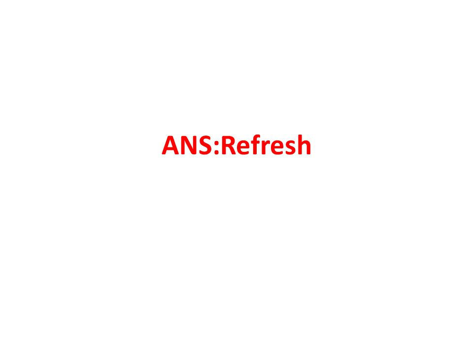 ANS:Refresh