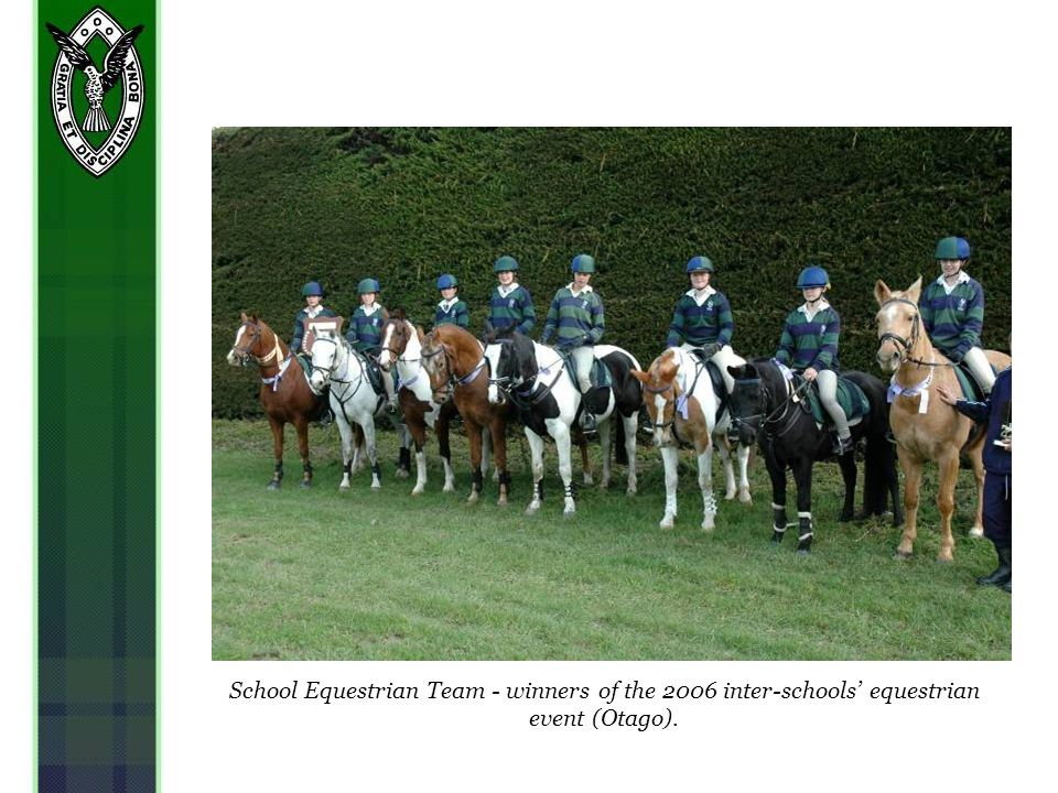 School Equestrian Team - winners of the 2006 inter-schools equestrian event (Otago).