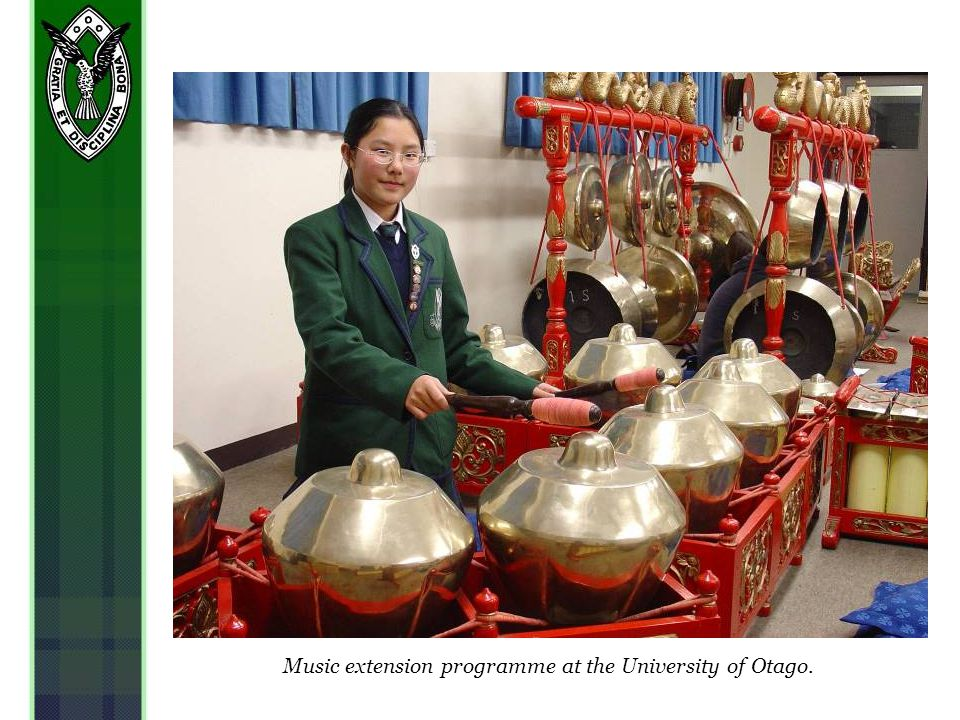 Music extension programme at the University of Otago.
