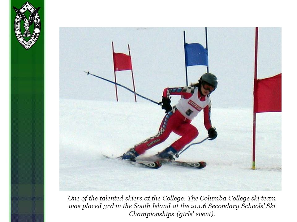 One of the talented skiers at the College.