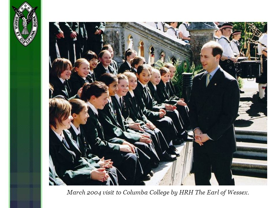 March 2004 visit to Columba College by HRH The Earl of Wessex.