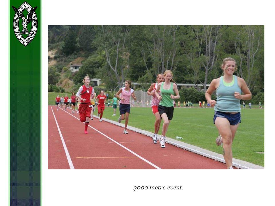 3000 metre event.