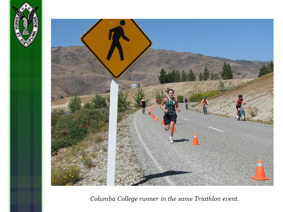 Columba College runner in the same Triathlon event.