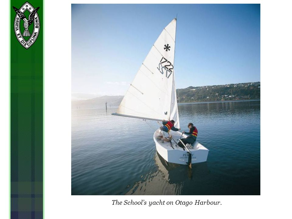 The Schools yacht on Otago Harbour.