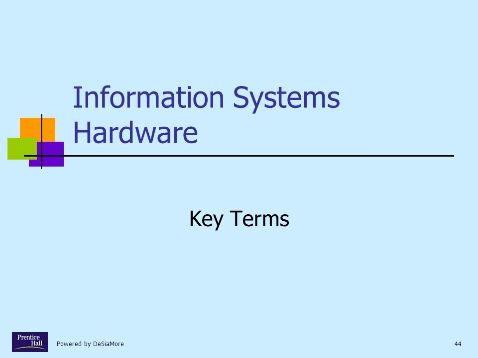 Powered by DeSiaMore44 Information Systems Hardware Key Terms
