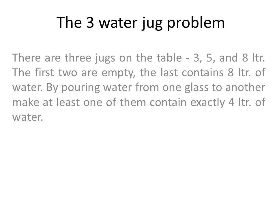 3 Water Jug Problem