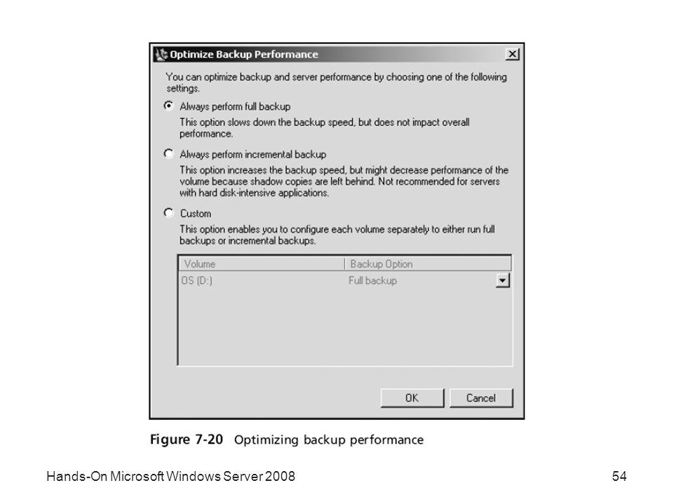 Hands-On Microsoft Windows Server 200854