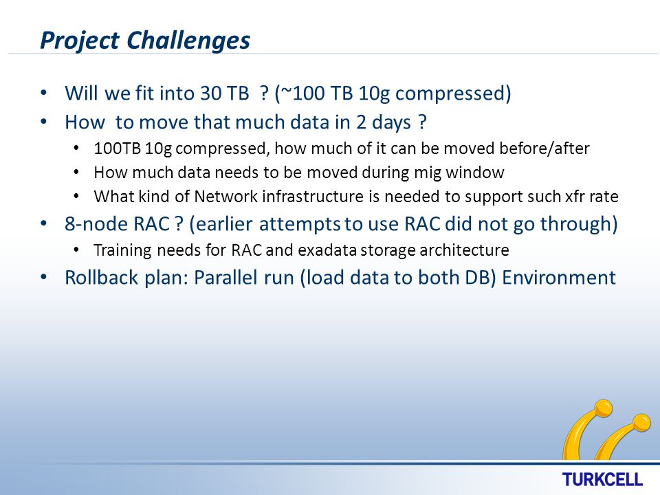 Project Challenges Will we fit into 30 TB .