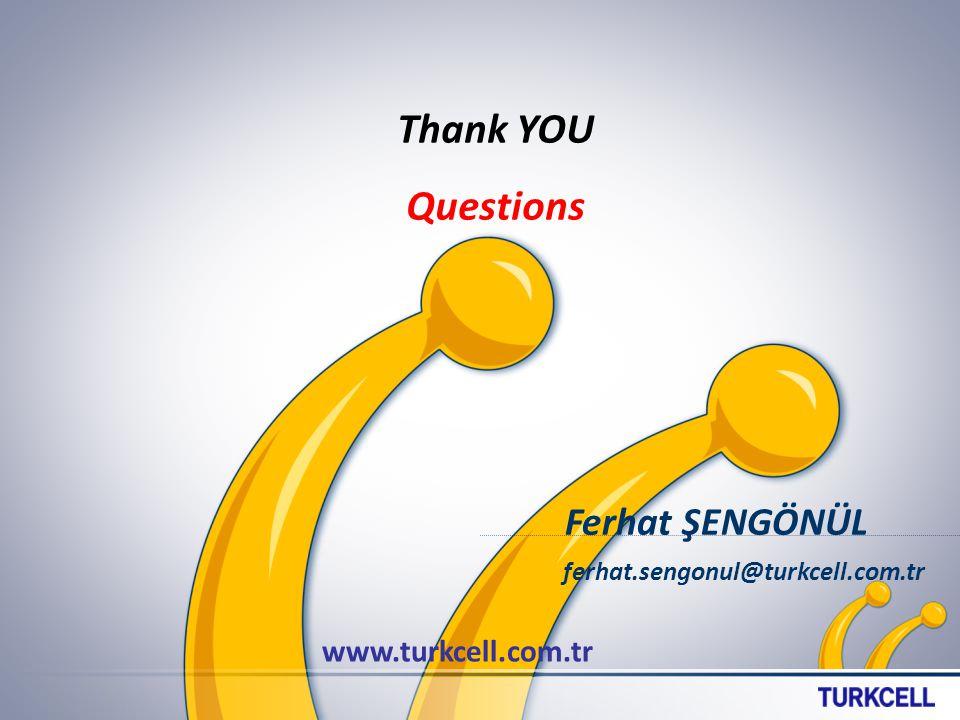 Thank YOU Questions www.turkcell.com.tr Ferhat ŞENGÖNÜL ferhat.sengonul@turkcell.com.tr