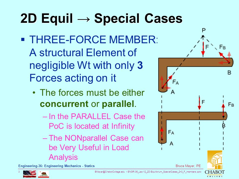 BMayer@ChabotCollege.edu ENGR-36_Lec-12_2D-Equilibrium_SpecialCases_2n3_F_members.pptx 24 Bruce Mayer, PE Engineering-36: Engineering Mechanics - Statics FrictionFilled Pulley Thus a RESISTING Moment causes a DIFFERENCE between the two Tensions More on This when we Learn Chp08 M Az