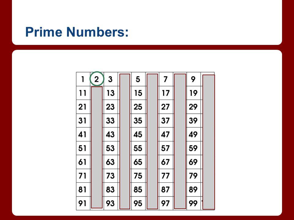 Prime Numbers: