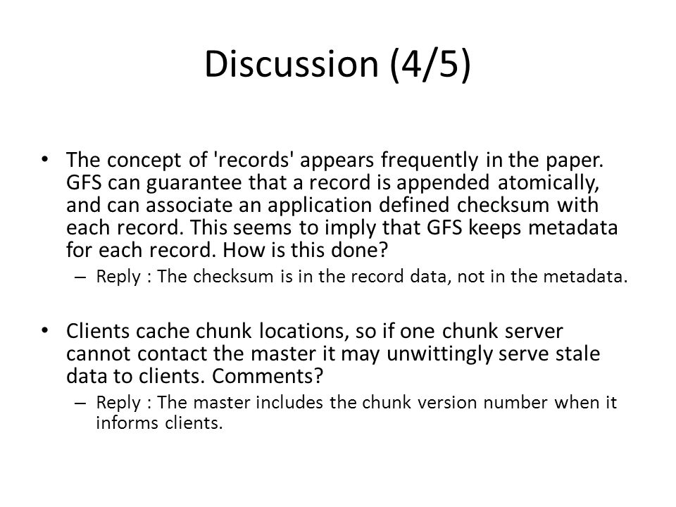Discussion (4/5) The concept of records appears frequently in the paper.