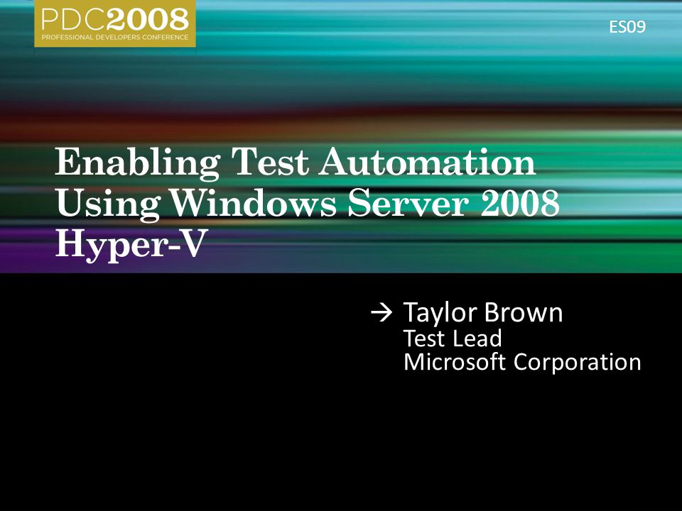 Taylor Brown Test Lead Microsoft Corporation ES09