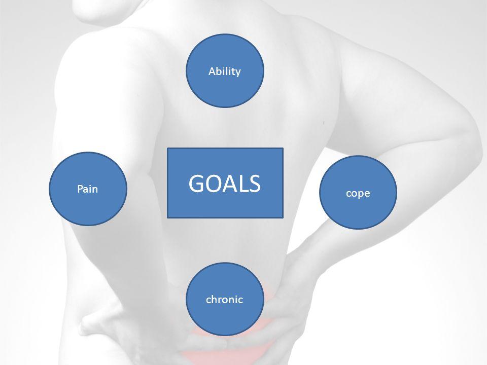 Pain Ability cope chronic GOALS