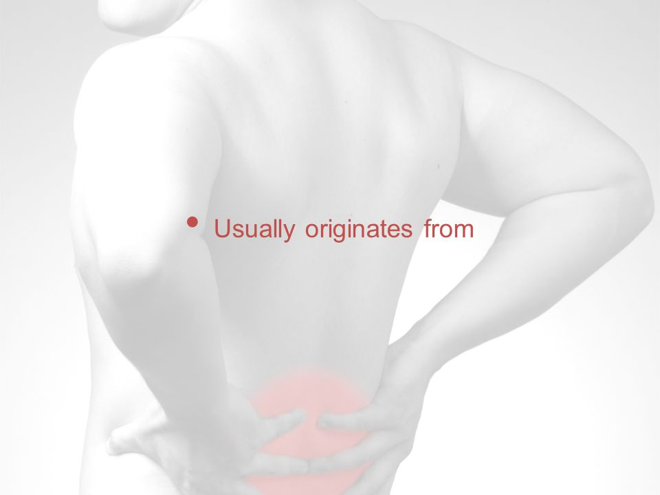 Usually originates from