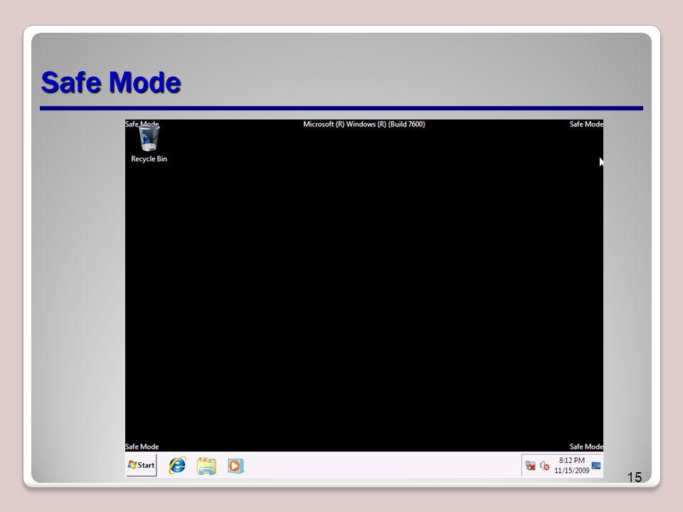 Safe Mode 15