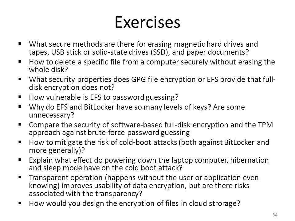 Related reading Online: – Halderman et al., Lest We Remember: Cold Boot Attacks on Encryption Keys.