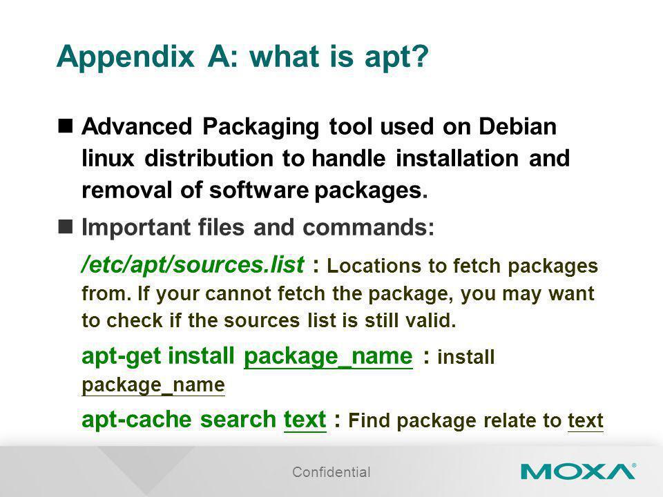 Appendix A: what is apt.