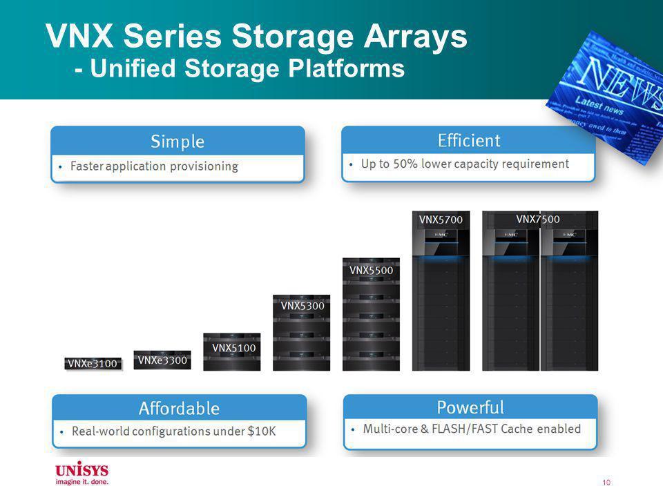 10 VNX Series Storage Arrays - Unified Storage Platforms