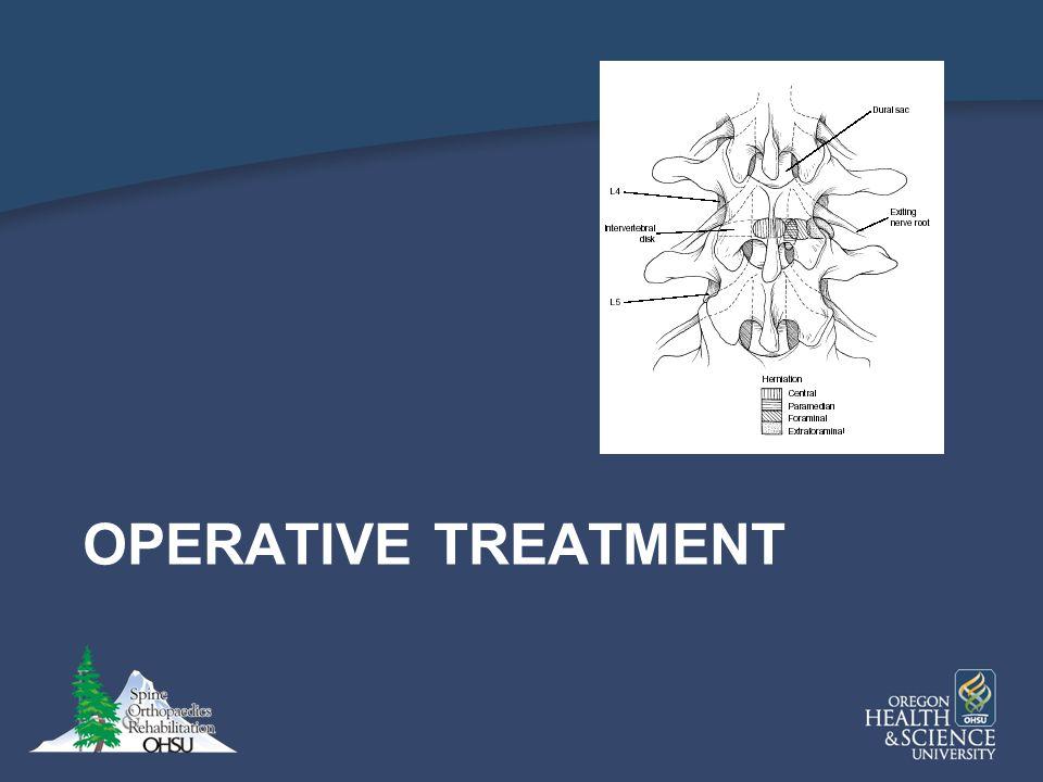 OPERATIVE TREATMENT