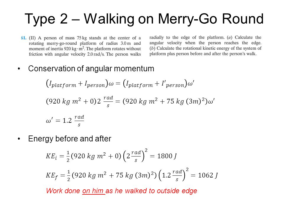 Type 2 – Walking on Merry-Go Round