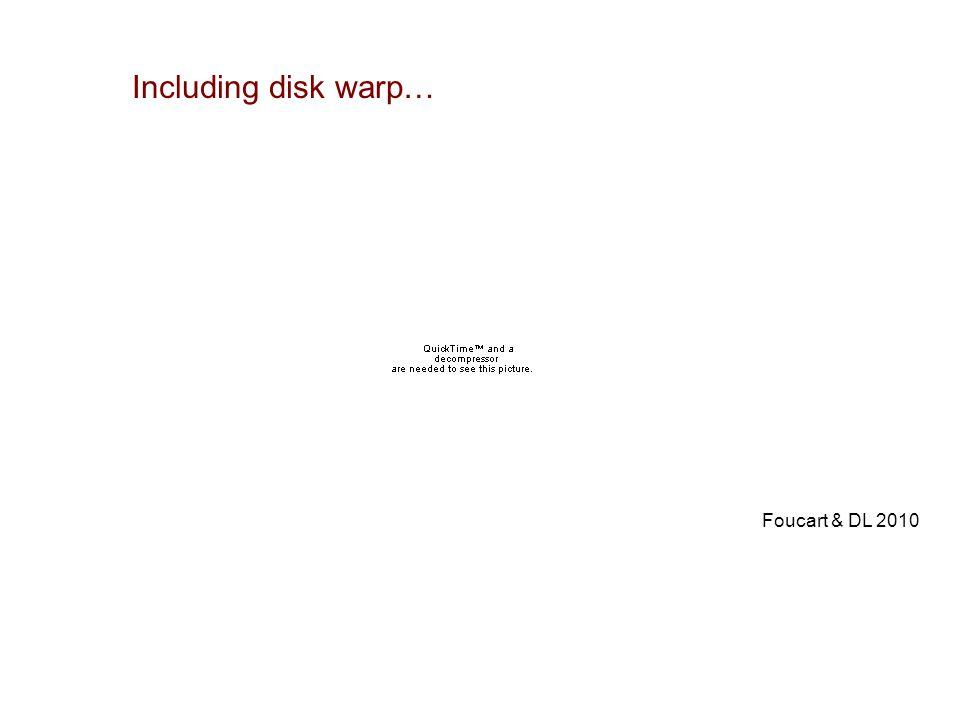 Foucart & DL 2010 Including disk warp…