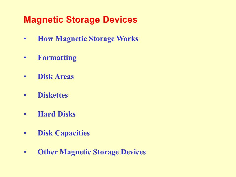 Magnetic Storage Devices - Hard Disks Hard disks use multiple platters, stacked on a spindle.