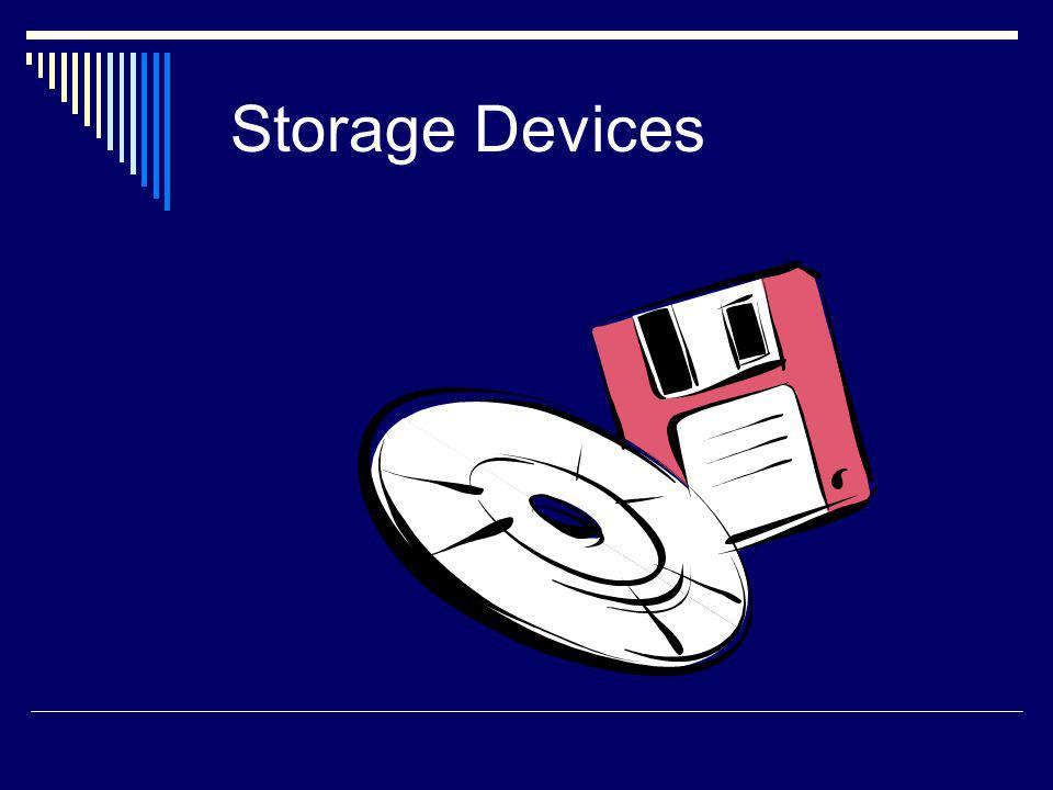 Storage Storage refers collectively to all the various media on which a computer system can store software and data.