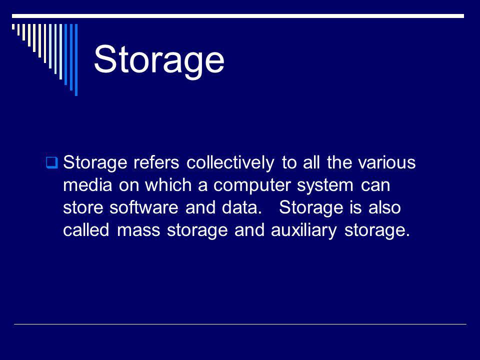 Storage cont.