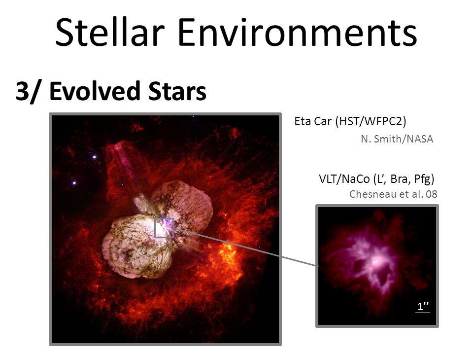 Stellar Environments 3/ Evolved Stars Eta Car (HST/WFPC2) VLT/NaCo (L, Bra, Pfg) N.