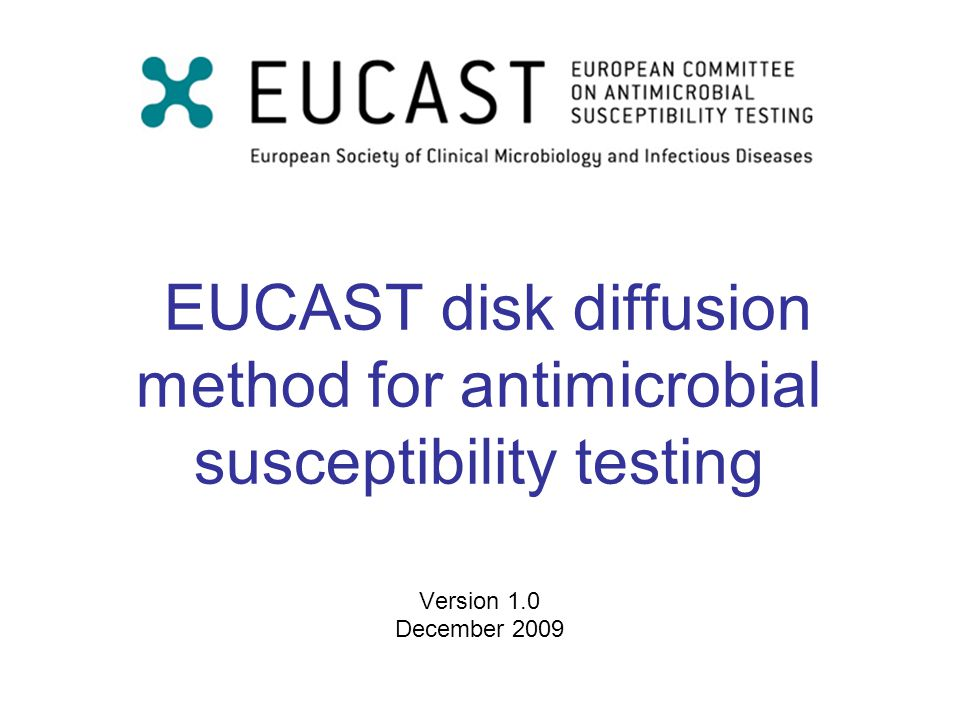 EUCAST 2009 Version 1.032 Monitoring test performance Target Upper limit of range Lower limit of range Single results outside control limits All results within limits but on one side of the mean Consecutive results outside limits on same side of the mean