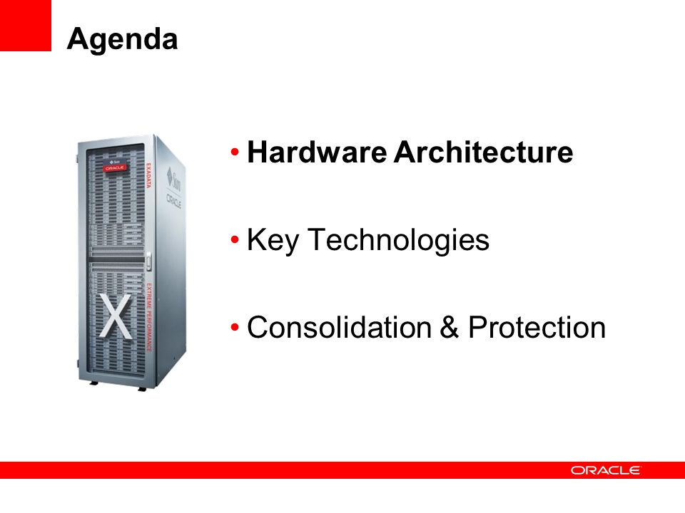 The Products Exadata Storage Server & Database Machine Exadata Storage Server Storage Product Optimized for Oracle Database Extreme I/O and SQL Processing performance Combination of hardware and software Exadata Storage Server Software Exadata Database Machine Pre-Configured High Performance Balanced performance configuration Takes the guess work out of building an Oracle deployment Exadata Storage Server Software Oracle Database 11.2