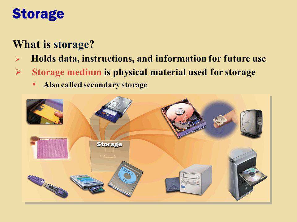 Storage What is capacity.