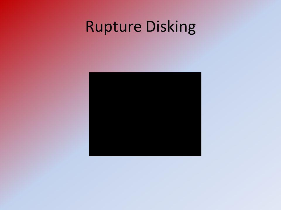 Rupture Disking (Simulation of Incident Blowdown)